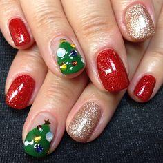 christmas by pukupuku15  #nail #nails #nailart