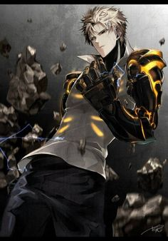 One punch-Man 162 Manga Espa単ol Saitama One Punch Man, One Punch Man Anime, Pec Man, Genos Wallpaper, Anime Rock, Character Drawing, Character Design, Shining Tears, Film Serie