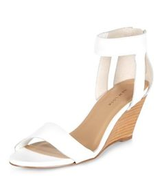 chaussures compenses en cuir blanches lanires - Chaussures Compenses Blanches Mariage