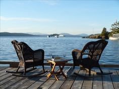 Victoria Vacation Rental - VRBO 225893 - 1 BR Vancouver Island Bed And Breakfast in Canada, The Boathouse... An Oceanfront Cottage Near Butchart Gardens, would be great for a reading/stitching vacation