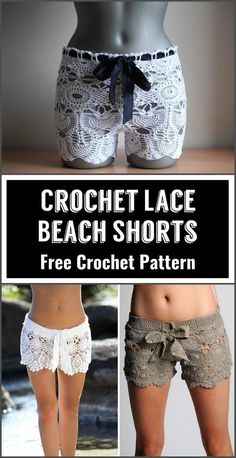 Crochet Lace Beach Shorts - 110+ Free Crochet Patterns for Summer and Spring - Page 6 of 12 - DIY & Crafts