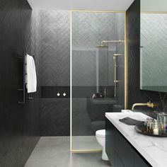 Black and gold are a distinctive and inimitable combination that is sure to create a luxe-look in any bathroom. Our Harbour Status Polished Gold Walk-In Shower Panel is the perfect choice for achieving this simply sensational look.