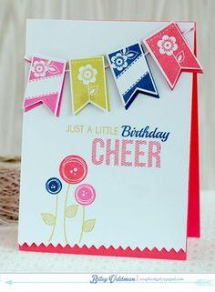 Birthday Cheer Card by Betsy Veldman for Papertrey Ink (July 2014)