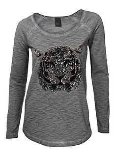 B.C. Best Connections - Rundhalsshirt grau im Heine Online-Shop kaufen