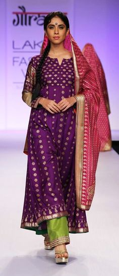 Customized Suit Made From An Old Saree Ethniche By Swati
