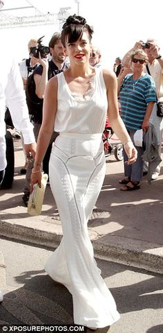 Lily Allen changes from hipster look to French Riviera chic at Cannes Lily Allen, Stylish Outfits, Cool Outfits, Hipster Looks, Chanel Dress, Bridal Gowns, Wedding Dresses, White Gowns, Chic Wedding