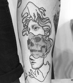 Tattoo blackwork - linhas e pontos por Francesco Rossetti