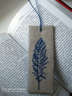 """Cross-stitch """"Bookmark"""" Bookmark finishing tutorial. Text is in Russian (?), but the photos are very clear."""