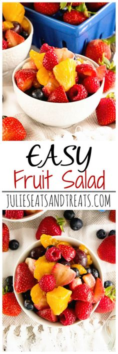 Easy Fruit Salad ~ Simple and Delicious Fresh Fruit Salad Recipe Using Vanilla Pudding Mix!