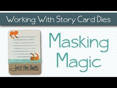 ▶ Masking Magic - with Technique Tuesday DIY Story Card Steel Dies - YouTube