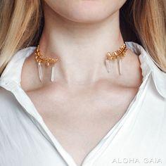 Aloha Gaia: Olivia Necklace With Quartz Crystals $69.00
