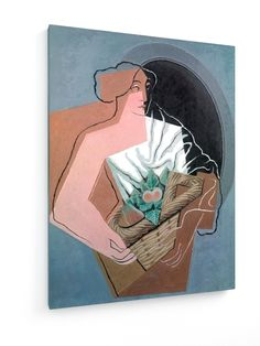 Juan Gris, Woman With Basket #Juan #Gris #weewado #john #gray #woman #fruits #person #human