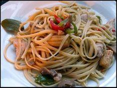 Mi Diario de Cocina | Tallarines con pollo y verduras | http://www.midiariodecocina.com