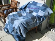 Old Jeans Duvet Cover