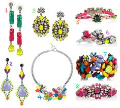 Colourful Jewellery by Tom Binns, Erickson Beamon and Shourouk