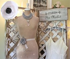 The Polka Dot Closet: Getting Ready To Dress The Antique Mall Window