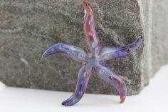 Purple-Amber Starfish Pendant on Etsy, $35.00