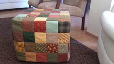 Ana Carol Patchwork: Capa em patchwork para puff