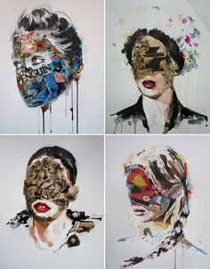 Super Mixed Media Illustrations of Sandra Chevrier