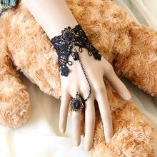 Commercio all'ingrosso del merletto dell'annata bracciali e braccialetti da polso gioielli fatti a mano accessori donna gioielli gotici bracciali per le donne WS-125  (China (Mainland))