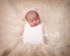 ❤~ GREAT CHOICES FOR THOSE VERY SPECIAL NEWBORN PHOTO SESSIONS ~❤  Such a unique bonnet with those absolutely adorable lambie ears we all love on