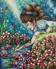 Perfeito.... como sempre!!!!! @Regrann from @cherrycolours - #artecomoterapia #coloring #coloriage #lapisdecor #coloredpencil #instaart #instacoloring #sommarnatt #hannakarlzon #prismacolor #triplusfineliner #Regrann