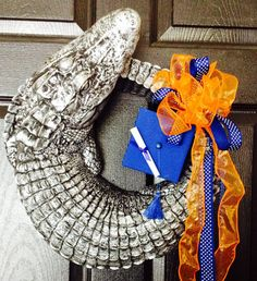 Gator wreath/centerpiece by TheHorseAndGator on Etsy