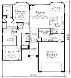 One-Story House Plan with Choices - 40884DB | 1st Floor Master Suite, Butler Walk-in Pantry, CAD Available, Den-Office-Library-Study, European, Narrow Lot, PDF | Architectural Designs