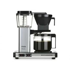 Moccamaster KBG 741 Coffee Brewer with Glass Carafe, Black Metallic Technivorm Moccamaster is a manufacturer of premium quality coffee brewers and Carafe, Best Drip Coffee Maker, Design Online Shop, Filter Coffee Machine, Cappuccino Tassen, Pour Over Coffee, Latte Macchiato, Mocca, Great Coffee