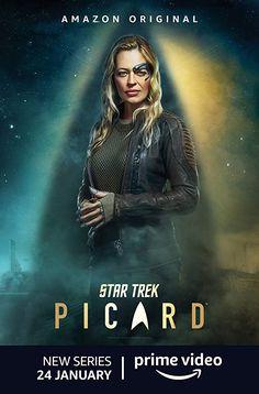 Star Trek Picard Seven of Nine Jeri Ryan TV Cast Signed Photo Autograph Reprint Poster Star Trek 1, Star Trek Cast, Star Trek Show, Jeri Ryan, Star Trek Characters, Star Trek Movies, Sci Fi Movies, Star Trek Starships, Star Trek Enterprise