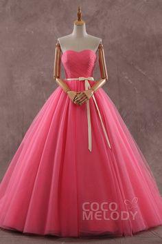 ライラック Aライン ハートネック ナチュラル コートトレーン チュール ピンク スリーブレース シャールング編み上げ式 ウエディングドレス プリーツ リボン LD3578