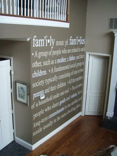 Family definition wall vinyl lettering decal