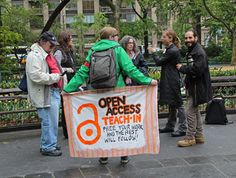 """Open Educational Resources """"... Our teach-in was part of The Free University of NYC: an event planned to reimagine higher education ..."""" - from source"""