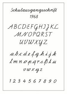 Schulausgangsschrift (DDR, seit 1968) Schulausgangsschrift 1968 - Schreibschrift – Wikipedia