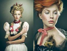 Tres chic, french revolution inspired make-up.