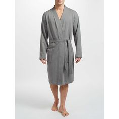 BuyJohn Lewis Jersey Robe, Grey, L Online at johnlewis.com