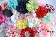 etsy baby grab bag   Flower Grab bag of 5,10,15 or 20 Fabric flowers and bows for DIY ...