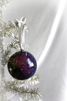 Hand Painted Christmas Ornament Galaxy Ornament by KanoelaniArt