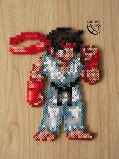CSW Ryu STF Perler Beads by Cimenord on DeviantArt