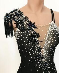 Details... #lisamckinnon #costumedesigner #details #embroidery #handmade #beading #beads #crystals #swarovski #crystalsfromswarovski #fringe #ombre #airbrush #custom #costume #dress #figureskating #skating #uschamps18