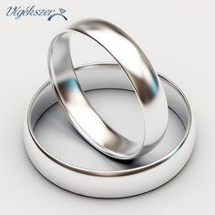 14K fehérarany jegygyűrű pár