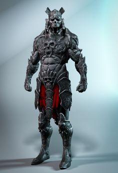 Artstation - the guardian, wichanan sarajan Fantasy Character Design, Character Concept, Character Art, Fantasy Armor, Dark Fantasy, Dnd Characters, Fantasy Characters, Armor Concept, Concept Art