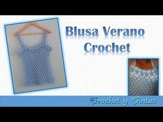 Blusa verano con punto calado a crochet - Parte 1 - YouTube