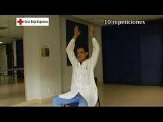 Gimnasia para personas mayores. Ejercicio 3: ejercicios con los hombros.