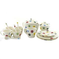 Emma Bridgewater Polka Dot Melamine Children's Tea Set NEW Childrens Tea Sets, Emma Bridgewater Pottery, Thing 1, Boxes For Sale, Milk Jug, Baby Play, Tea Pots, Polka Dots, House