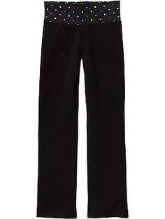 Girls Waist-Graphic Yoga Pants   Old Navy