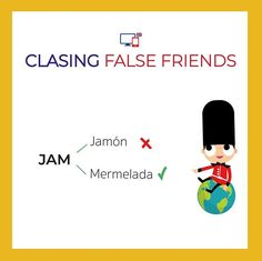 No os confundáis que seguro que a más de uno os ha pasado  .Sabéis como se dice jamón en inglés? #falsefriends #inglesconversacional #skypeenglish #inglesparaadultos #inglessinbarreras English Tips, Learn English, English Grammar, Teaching English, Learning Spanish, Spanish Games, False Friends, Spanish Vocabulary, Writing Words