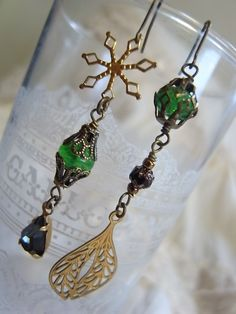 handmade accessory crafts beads vintage   The Avengers Thor loki earrings