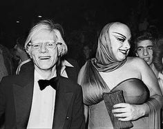 Andy and Divine at the mudd-club-new-york