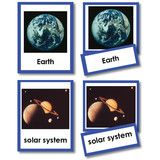 Introduce the planets and other elements in the solar system with these incredible photographs. The three part card set includes...